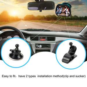 Mirror Adjustable Monitor Facing Car-Back-Seat Rear-Ward-View Safety Baby Kids New Headrest