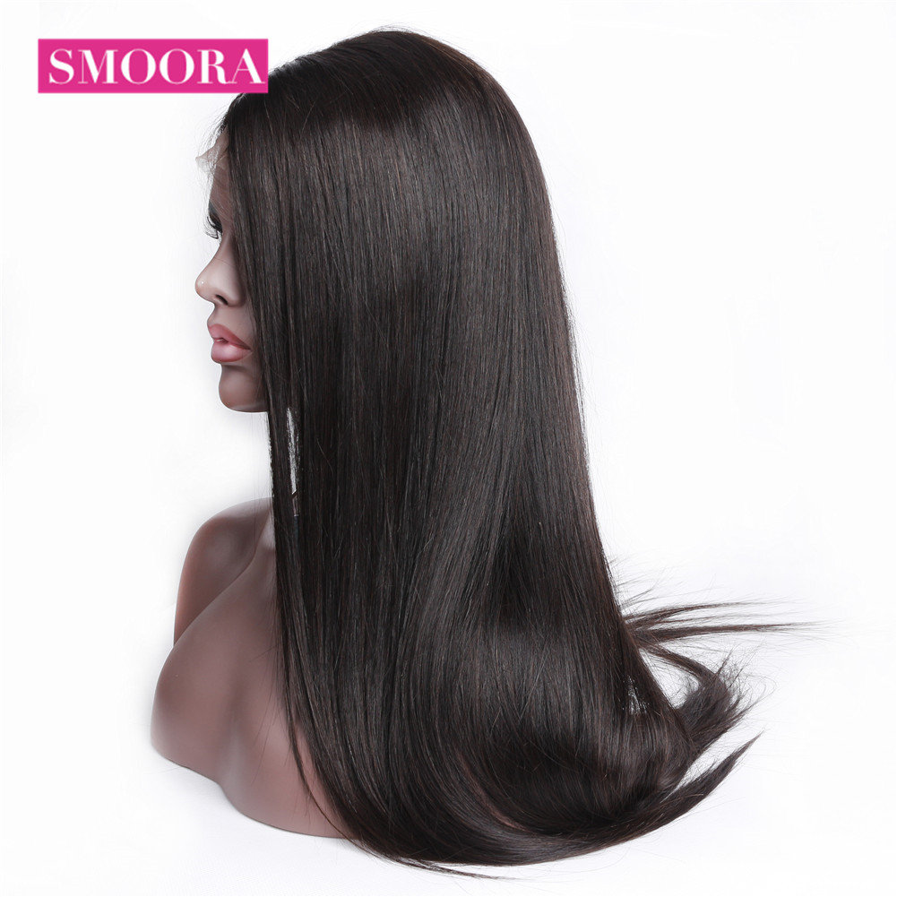 Straight Full Lace  Wigs    Hair 150% Density Natural Hairline Long Full Lace Wig 10-26 Inches 4