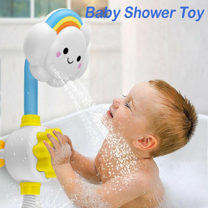 Baby Children Kids Bath Cloud Flower Spray Water Shower Head Tub Faucet Bathroom Toys