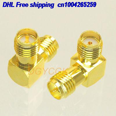 EMS/ DHL 100pcs Conversion Adapter SMA Female To RPSMA Female Plug 90 Degree Connector F/F Connector  22ds