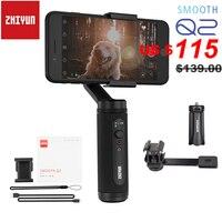 Zhiyun suave q2/suave 4 3 eixos smartphone cardan handheld estabilizador para iphone 11 pro max xs x 8p samsung s10 s9 s8 huawei