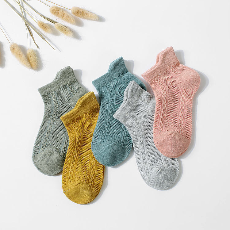 Spring And Summer New Style Children's Socks Thin Children's Socks Mesh Boat Socks Cotton Men And Women Children Hidden Socks BA