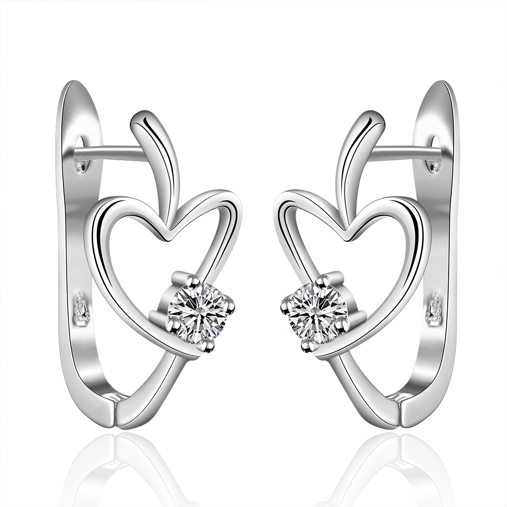 Veleprodaja srebrne naušnice, pribor za nakit za vjenčanje, modni dar s cirkonima za žene u obliku srebra