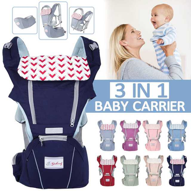 0-36 Months 3 in 1 Baby Sling Baby Carrier Infant Kid Baby Hipseat Sling Front Facing Kangaroo Baby Wrap Carrier For Baby Travel 1