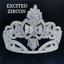 Изысканная модная женская корона с Ангелой и принцессой из искусственного