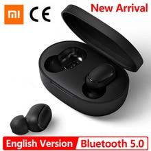 İngilizce sürüm Xiaomi Mi gerçek kablosuz Bluetooth kulaklıklar, Stereo bas kablosuz gürültü azaltma kulaklık Handsfree AI kontrolü