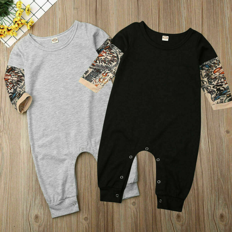 Fashion Newborn Baby Girl Boy Jumpsuit Outfit Clothes Set