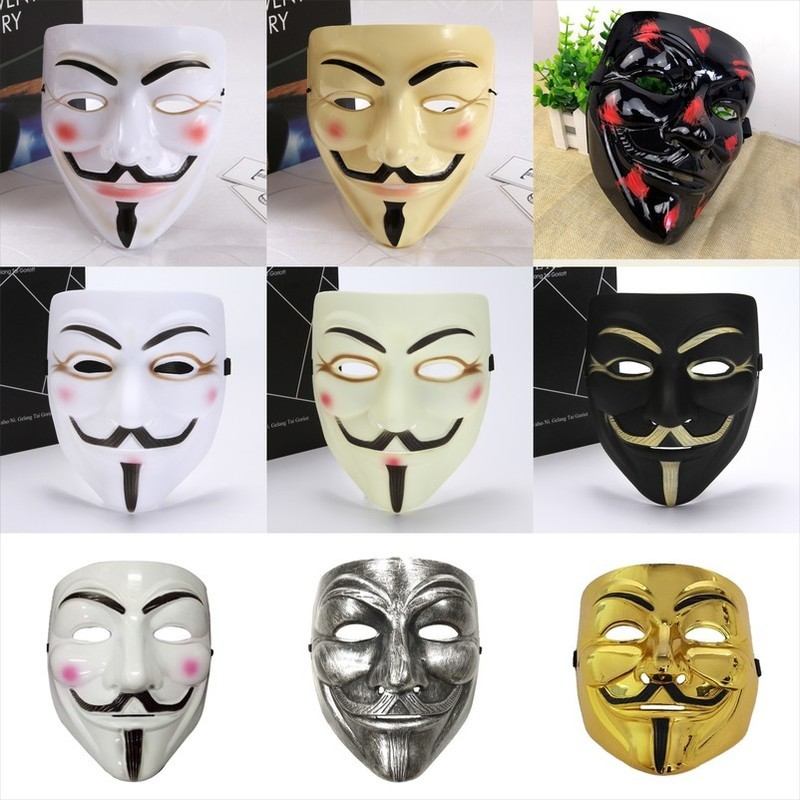 V for Vendetta Mask Movie Guy Fawkes Halloween Masquerade Party Cosplay Mask