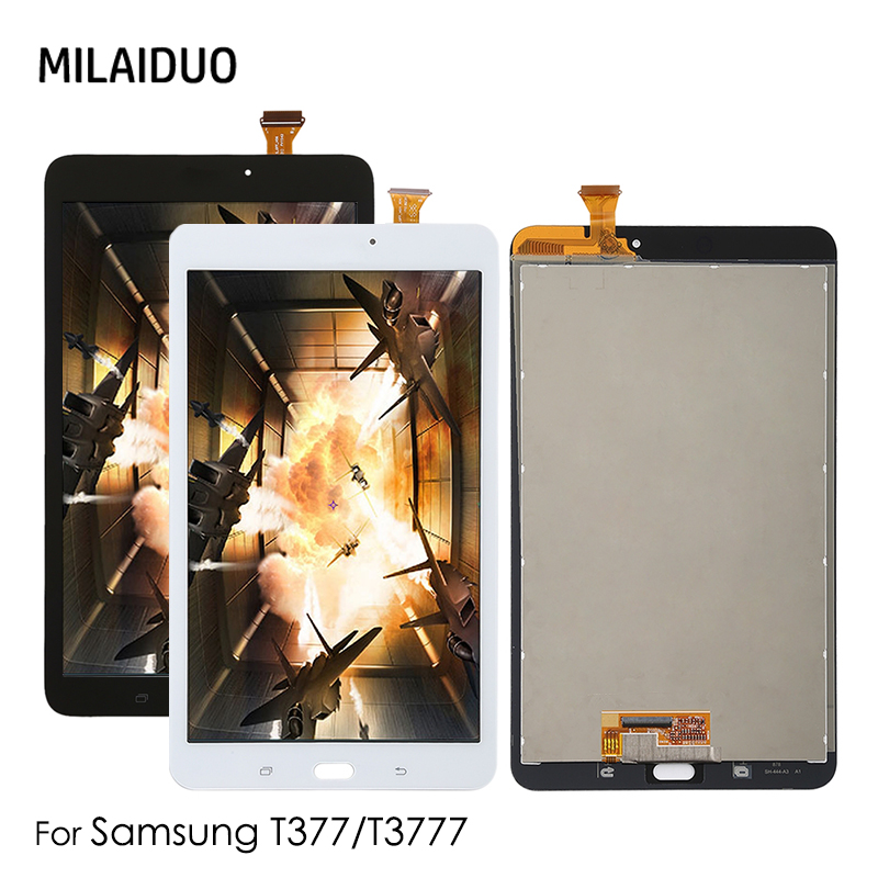 LCD For Samsung T377 T3777 T377A T377T SM-T377W SM-T377P SM-T377R Tab E 8.0 LCD Display Touch Screen Digitizer Panel Assembly