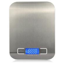 11 LB / 5000g elektroniczna waga kuchenna cyfrowa waga do żywności waga analityczna LCD ze stali nierdzewnej wysoce precyzyjny pomiar narzędzi