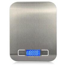 11 lb/5000g 전자 주방 규모 디지털 식품 규모 스테인레스 스틸 무게 규모 lcd 고정밀 측정 도구