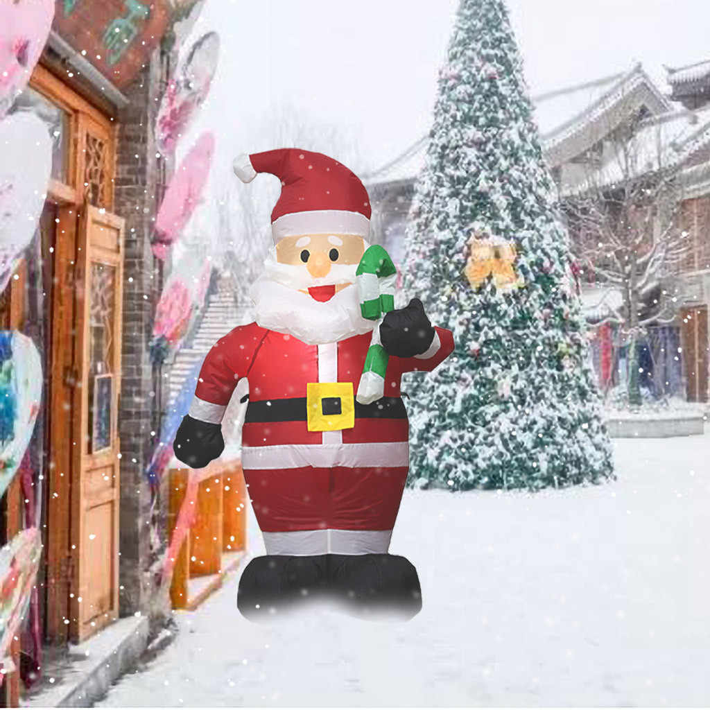 2020 Inflatable Santa Claus Night Light Figure Outdoor Garden Toys Christmas Party Decorations New Year Merry Christmas 15 Pendant Drop Ornaments Aliexpress