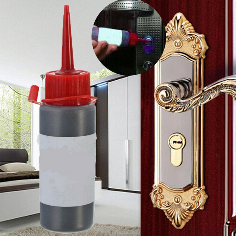 Locksmith Supplies 60ml Padlock Key Cylinder Non Toxic Graphite Powder for Gate Lock Safety Lock Hinge Car Gate Lubricant Black