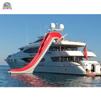 Customized Inflatable Boat Slide Water Slide Inflatable Yacht Slide
