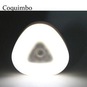 Image 1 - Oprawa z czujnikiem ruchu Auto PIR bezprzewodowe oświetlenie kuchni LED lampka nocna na baterie zasilana lampa z czujnikiem ruchu lampki nocne