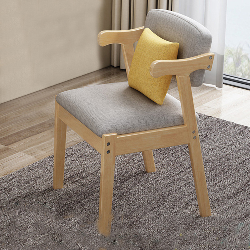 Home Modern Armchairs for Living Room chaise scandinave fotel 2019 New Simple Style Solid Wood Lounge Chair Student Armchair-in Office Chairs from Furniture