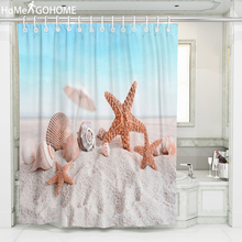 3D Waterproof Fabric Shower Curtain for Bathroom Nordic Starfish Shell Beach Bath Screen Curtains Douchegordijn Landschap Art точило кратон bg 250 150 l 250вт 2950об мин диск 150х20х32мм эл подсв
