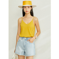 Spring Knitted Soft Solid Vest Tops