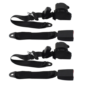 Universal 3 Point Retractable Seat Belts Fit for Jeep CJ YJ Wrangler 1982-95 2Pc