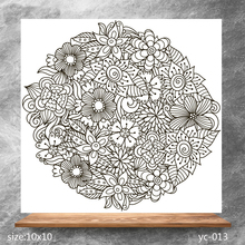 ZhuoAng Floral decoration Clear Stamps/Silicone Transparent Seals for DIY scrapbooking photo album Stamps