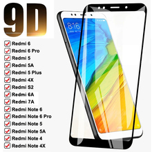 9D 9H закаленное стекло на Redmi 4X 5A 5 Plus 6 6A S2 для Xiaomi Redmi Note 4 4X 5 5A 6 Pro полноэкранная Защитная стеклянная пленка чехол