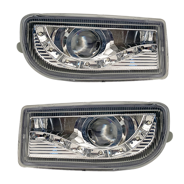 A pair Modified front fog lamp For Toyota Land Cruiser Fj100 Front Bumper lamp Daytime Running Light With Lens