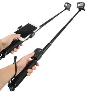 Image 2 - 43in الألومنيوم الغوص Monopod ل GoPro بطل 6 5 7 8 9 الأسود ترايبود جلسة Sjcam Sj7 يي 4K عمل كاميرا Selfie عصا ل الذهاب برو