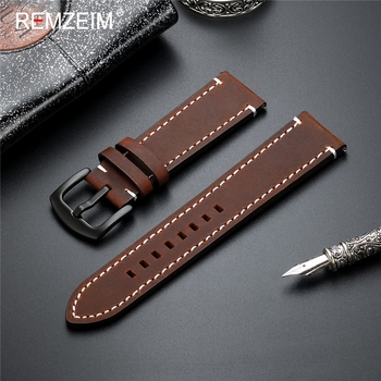 20mm 22mm Retro Genuine Leather Watch band Strap for Samsung Galaxy Watch 42 46mm Gear S3 Sport WatchBand Quick Release 18 24mm