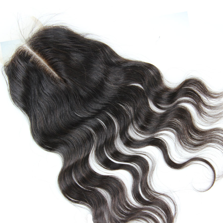 Brazilian Body Wave Lace Closure Bleached Knots 4X4 Lace Closure With Baby Hair 5X5 Lace Frontal Closure Virgin Human Hair Piece
