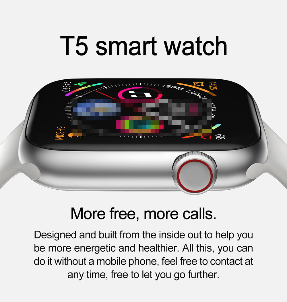T5 IWO 8 Pro Smart Watch Changeable Strap Series 4 Smartwatch Heart rate Blood pressure Sports Watch For IOS Android PK W34