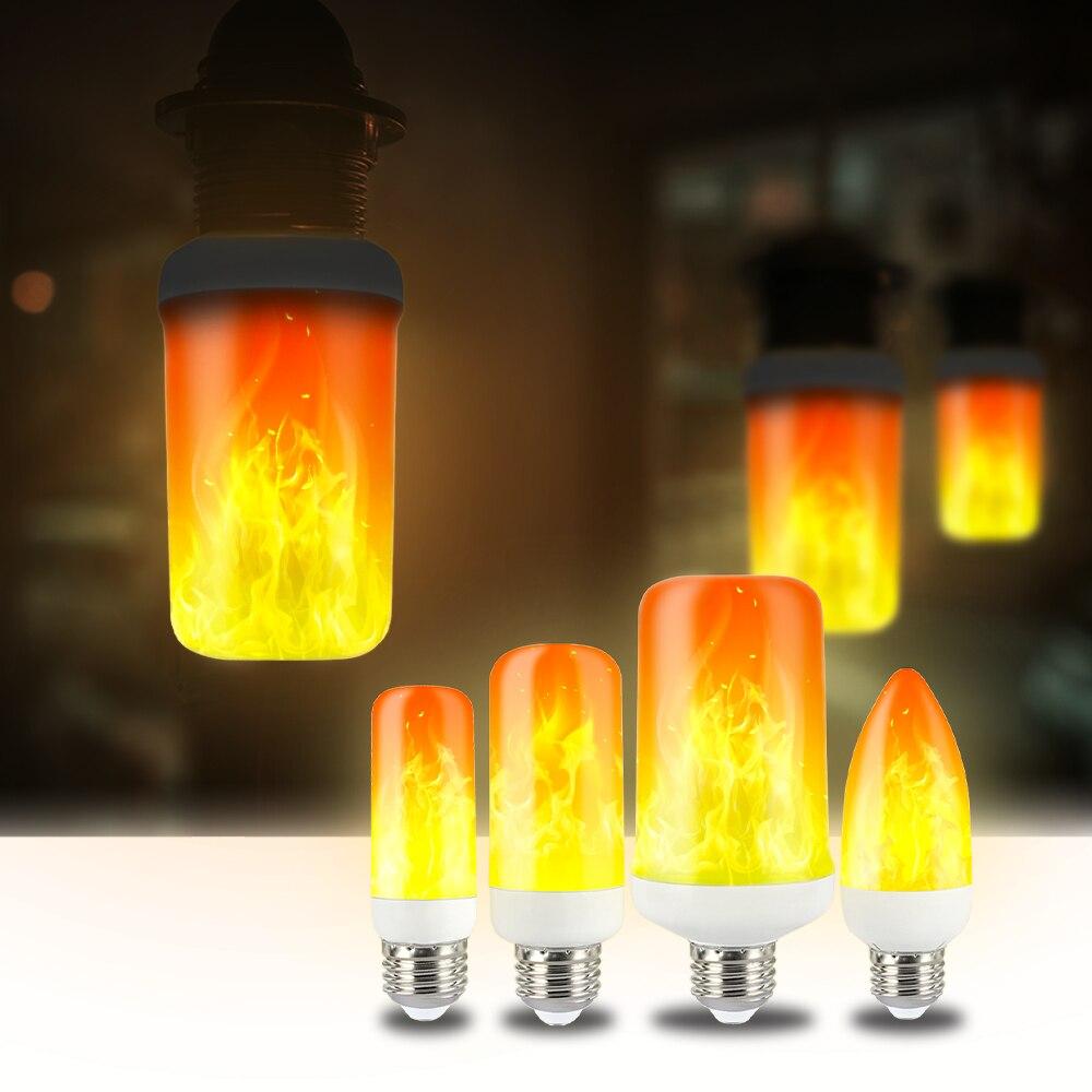 CHIZAO Flame effect decorative bulb LED dynamic flame light E12/14/26/27 Creative corn bulb Flame simulation effect Night light 4