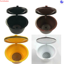 3pcs/pack use 150times Dolce cafe Gusto Coffee Capsule Plastic Refillable Reusable Compatible with  coffees refill fill