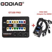 GODIAG GT100 PRO ทดสอบแพลตฟอร์มอิเล็กทรอนิกส์ Current จอแสดงผล OBD II Break Out กล่องแถมฟรีของขวัญ FEM/ BDC การเขียนโปรแกรมสำหรับ BMW