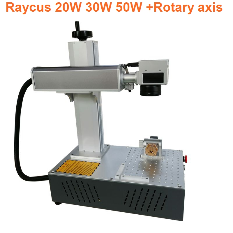 all in one 20W raycus fiber marking machine fiber laser marking machine marking metal laser engraving machine diy cnc in Wood Routers from Tools