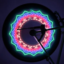 Colorful Bicycle Lights Bike Cycling Wheel Spoke Light 32 LED 32-pattern Waterproof Riding Decorative Lighting(China)