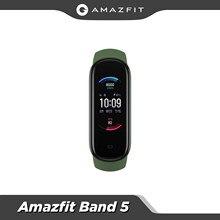 Amazfit Band 5 – batterie étanche 5atm, livraison rapide, version globale, multi-langues, 15 jours d'autonomie