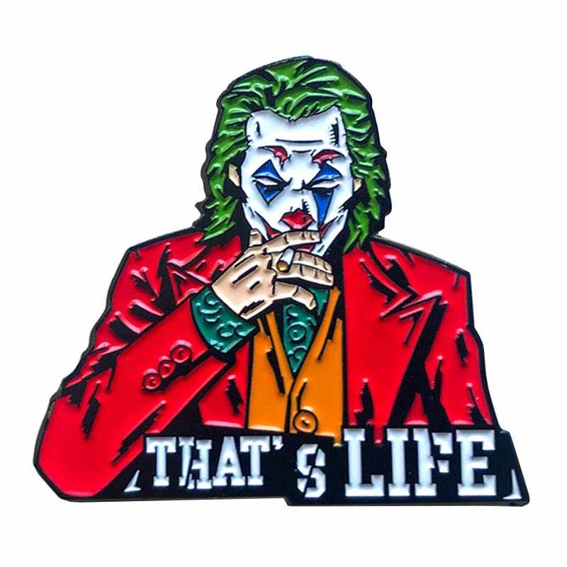 Joker Morbido Smalto Pin