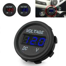Auto Motorfiets Dc 5 V-48 V Led Digitale Display Voltage Meter Auto Batterij Voltmeter Tester Auto Motor Boot refit Accessoires(China)