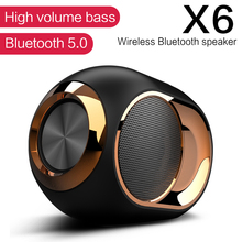doss e go ll outdoor bluetooth speaker portable wireless speakers ipx6 waterproof sound box with microphone aux tf for phone pc X6 Bluetooth 5.0 Speaker TWS Portable Wireless Loudspeakers For Phone PC Waterproof Outdoor Stereo Music Support TF AUX USB FM