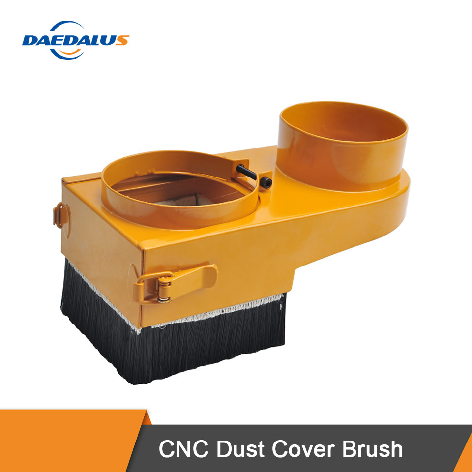 Daedalus CNC Dust Collector Diameter 80MM 85MM 90MM 100MM Milling Machine Dust Cover Brush Woodworking Router Cleaning Tool