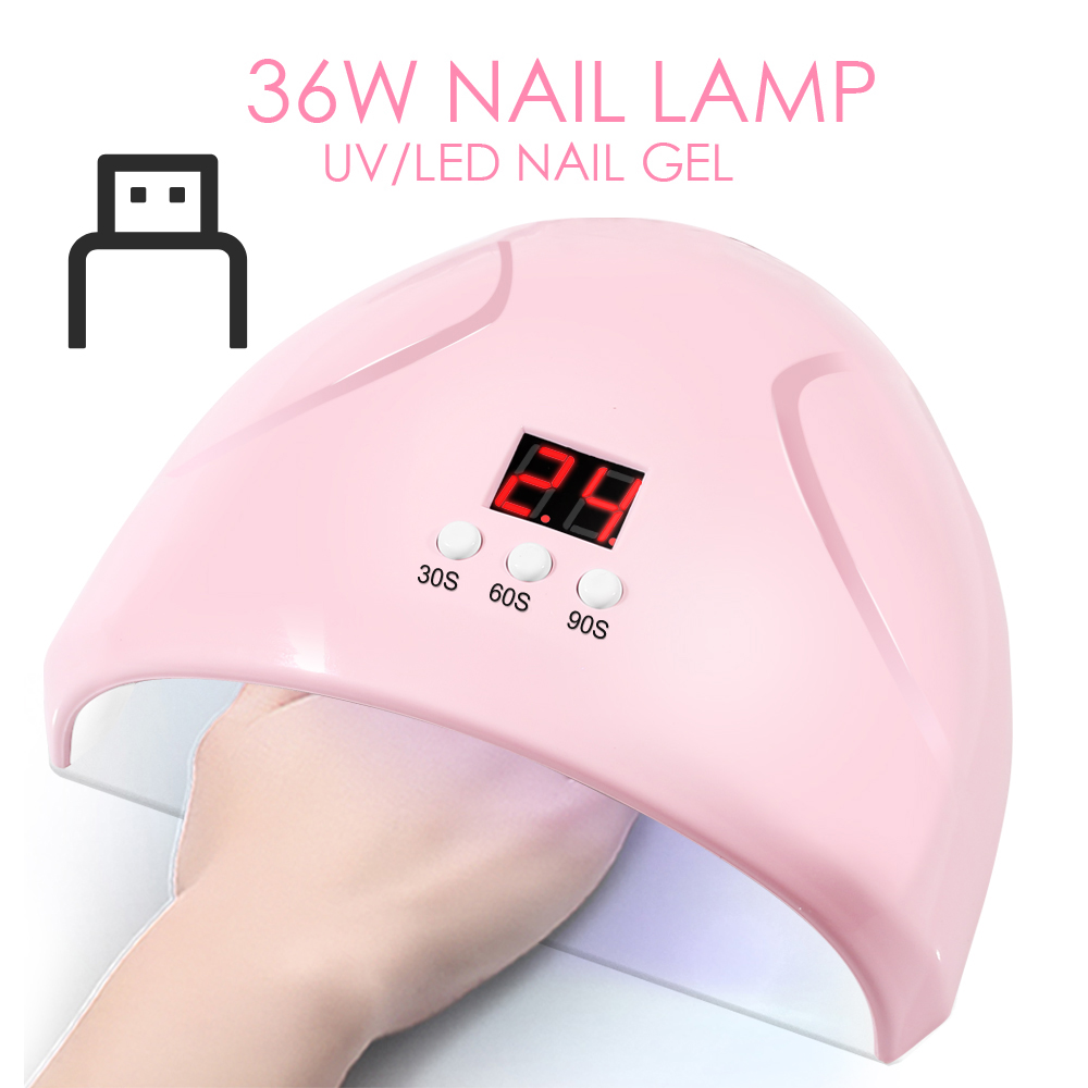 36W Nail Lamp LED Nail Dryer For Drying Gel Nails Polish Quick 30S/60S/90S Three Timing Manicure Tools Nails Dryer LCD Display