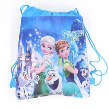 Hot Party Bag For Kids Favor Travel Pouch Storage Clothes Shoes Bags Disney Princes Frozen Non-Woven Fabric Drawstring Gifts Bag(China)