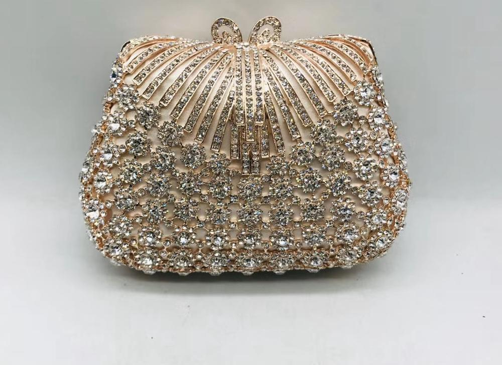Designer Handbags High Quality Diamond with Crystal Day Clutch Lady Wallet Party Banquet Wedding Purse Ladies Party Small Purses
