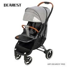 Dearest Proรถเข็นเด็กทารกการจัดส่งฟรีUltra Lightพับสามารถนั่งหรือLieภูมิทัศน์สูงเหมาะสำหรับ