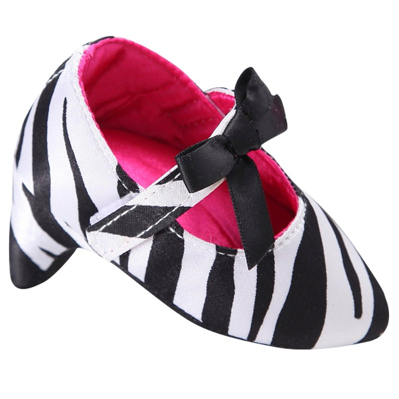 Newborn Baby Girl Princess Sweet Beautiful Baby Toddler Baby Crib Shoes Bow High Heels For Photos #06