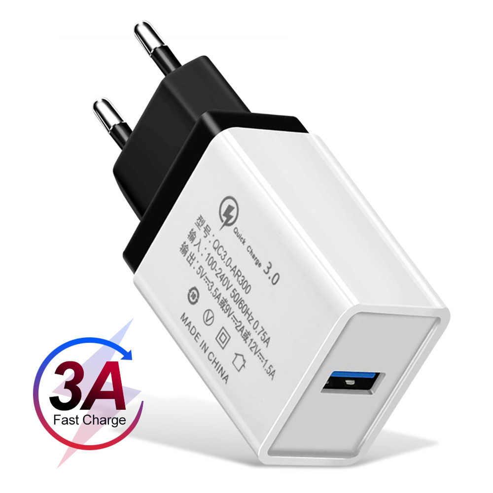 USB зарядное устройство для телефона Quick Charge 3,0 2,0 EU/US вилка дорожная стена Быстрая Зарядка адаптер для samsung htc планшеты зарядное устройство для мобильного телефона