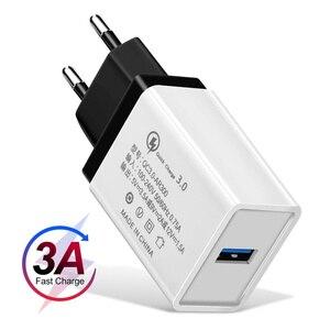 Image 2 - Ładowarka do telefonu na usb Quick Charge 3.0 2.0 EU/US Plug Travel kabel do szybkiego ładowania ściennego do tabletów Samsung HTC ładowarka do telefonu komórkowego