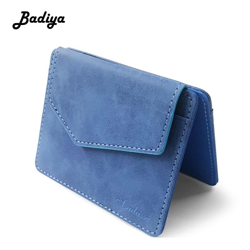 Mini Card Package Leather Clutch Handbag Bifold ID Money Holder Purses Wallets
