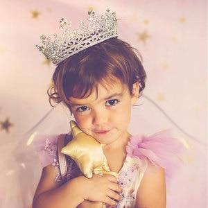 Image 2 - FORSEVEN كامل دائرة الراين العروس التيجان الملكة الأميرة مسابقة الإكليل ولي دي نويفا الزفاف مجوهرات اكسسوارات الشعر