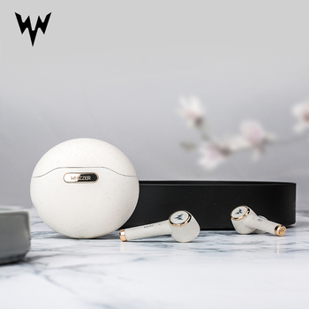 Whizzer TP1S Earphones wireless Bluetooth headset 3D stereo dual microphone waterproof sports earplugs Touch Control Voice